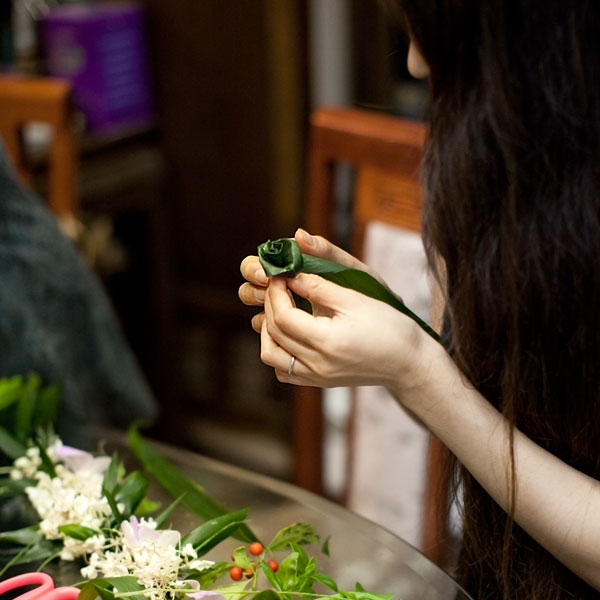 ティーリーフのバラ作り